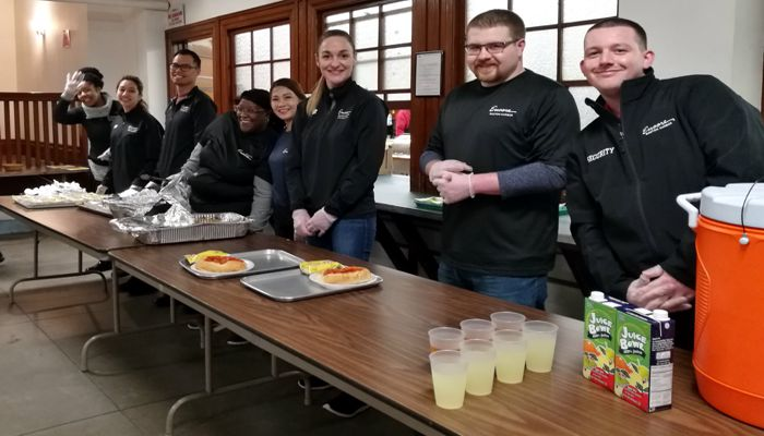 Thank you to the employees of Encore Boston Harbor for volunteering at Bread of Life's meal alongside the folks from Emmanuel Episcopal Church, Wakefield, Massachusetts. Great team - great job!
