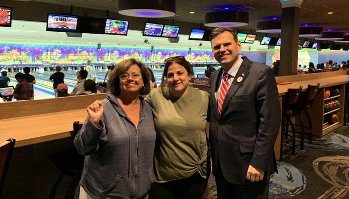 Lots of smiling faces at Councillor Jadeane Sica's Annual Bowl into Summer Vacation!