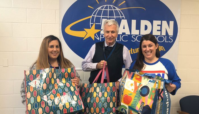 Malden Education Assoc. members Marie Motley & Ron Janowicz from Malden High School worked with MEA leadership to purchase warm winter clothing for students in need through the MassChild grant program. Our educators do so much beyond what happens in the classroom!