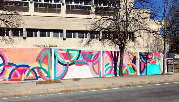 Malden Arts ARTLine is thrilled to announce the ribbon-cutting of the Frank Stella mural located on the wall of Malden High School facing Centre Street at the corner of Rt. 60 and Holden Streets on Wednesday, December 11th at 3 PM.