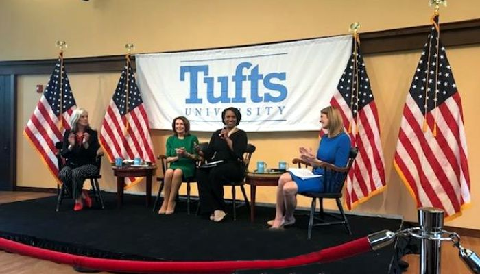 House Speaker Nancy Pelosi,Congresswoman Katherine Clark, and Congresswomen Ayanna Pressley and Lori Trahan all visited Tufts University to discuss the importance of helping out the children in the country.