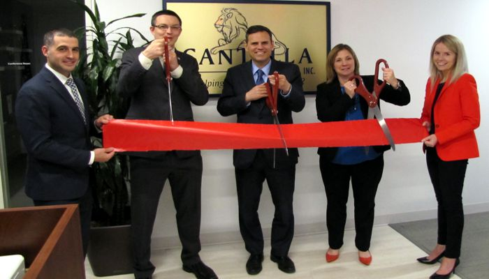 Mayor Gary Christenson and some of the employees of Cantella Financial had a ribbon cutting ceramony at their facilities at 350 Main Street 3rd Floor.