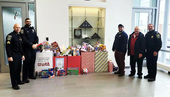 Members of Masonic lodge mount Vernon-Galilean donated over $500 worth of unwrapped toys and games for the toys for tots program.