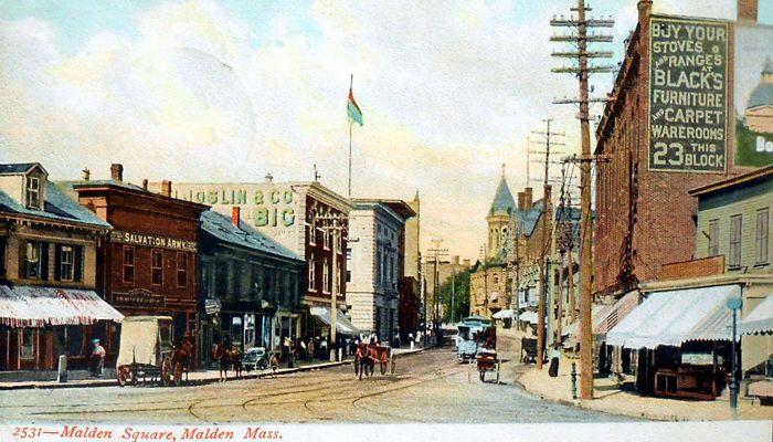 Malden square circa 1907
