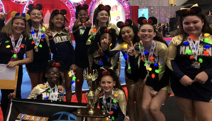 Let's give a big great cheer for our Junior Varsity Pop Warner Cheerleaders winning the National Championship today in Florida and being rewarded with a Key to the City when they return home to Malden!  The cheerleaders are coached by Melanie Philbrook and Alyson Beasley-Costello.