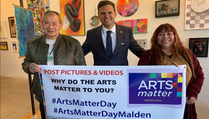 Mayor Christenson says The arts matter to me because it brings people together and inspires a sense of community