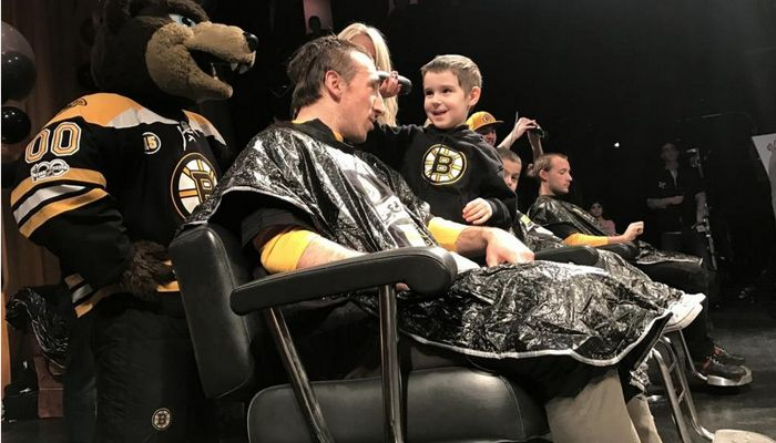 "He may only be in kindergarten, but Timothy Reid is gaining a serious reputation as a Bruins buzz-cutter. The Malden 5-year-old turned Bruins barber for the day shaving forward Brad Marchand's head at the team's 10th annual ""Cuts for a Cause"" event, March 27 at the House of Blues in Boston."