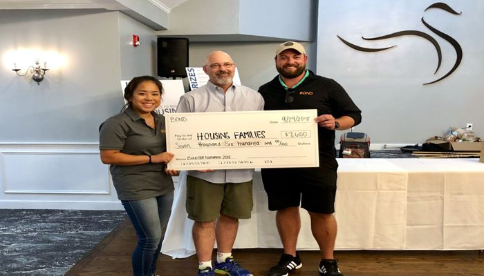 HUGE Thank You to long time supporters Bond Brothers for directing the proceeds of last Saturday's Annual Golf Tournament to Housing families - this year raised $7,600 for our cause! Shout out to Team Housing Families
