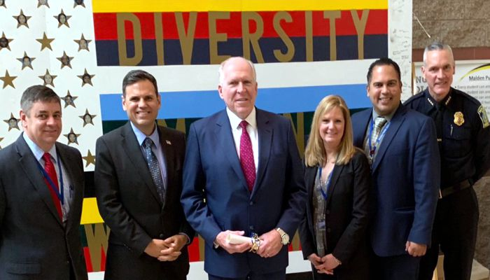 Thank you to Ferryway School 8th Grade History Teacher Tim Stratford for going above and beyond by organizing a meeting for our students with former CIA Director under President Obama, John Brennan