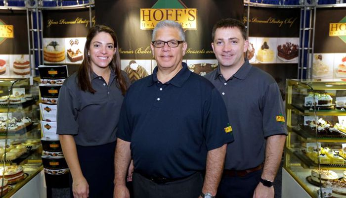 Hoff's Bakerys Vinny Frattura with daughter Nicole and son David who help run the business