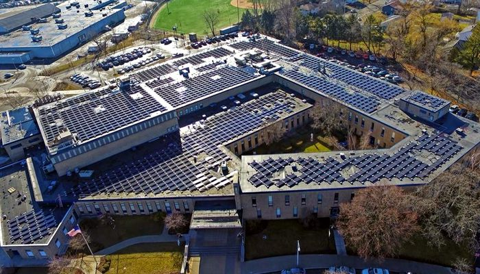 Malden Catholic celebrates new solar array. On Thursday, the all-boys preparatory high school celebrated the installation of 1,512 solar panels on its roof
