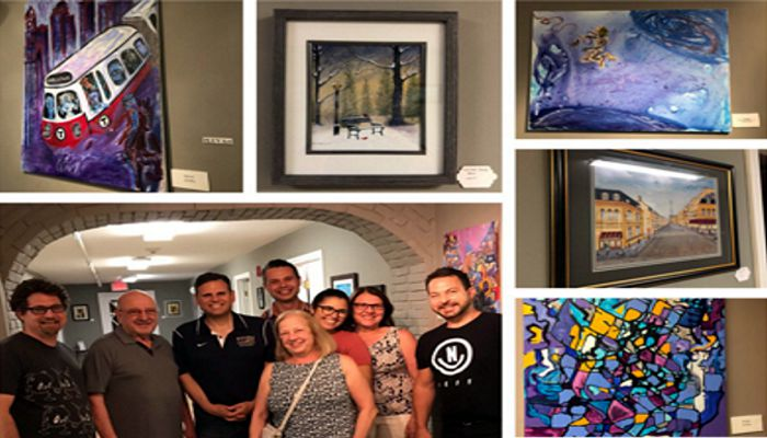 Mayor Christenson says Thank you to Luva Hair Day Spa for once again promoting the arts by hosting Carl Ristaino and Joe Saro's Gallery Opening!