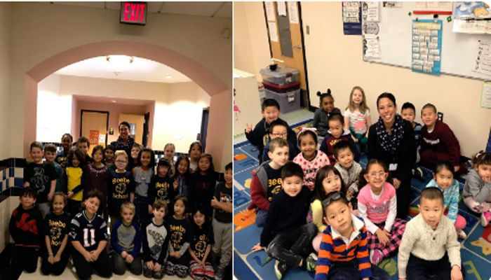 """Jennifer Spadafora said that I spent my day at Beebe K-8 reading to kindergarteners and discussion """"community leaders"""" with Ms. Hurley/Ms. Spayne's 2nd grade"""