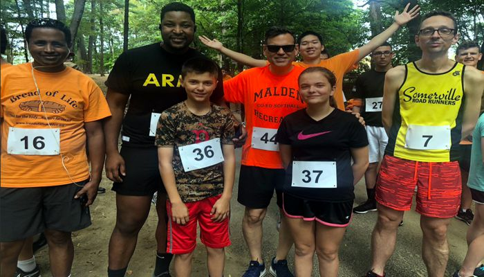Mayor Gary Christenson said it was a great turnout at the Bread of Life Annual Walk for Bread & 5K Run. He was impressed to see Jaime and Matthew covering for their Dad Ron Cochran in the race!