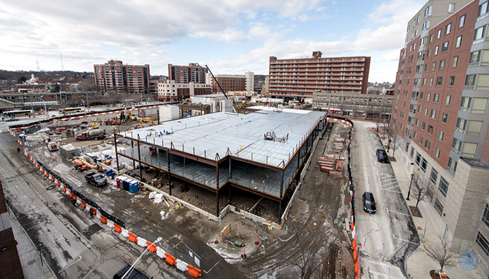 Malden City Hall construction on February 9, 2018