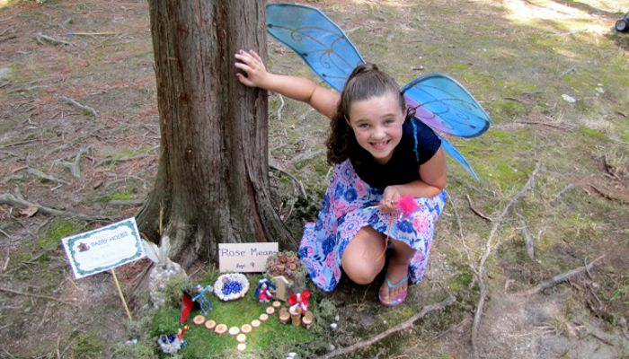 Rose Means, 9 years old, won first place in the Youth catagory at the 2018 Fairy Festival held at Pine Banks Park