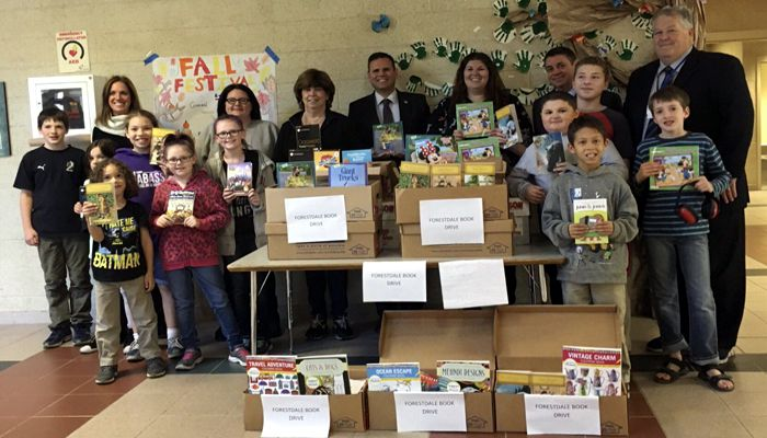 Mayor Christenson says Thank you to the Forestdale School for collecting 15 boxes of books to donate to hurricane victims!
