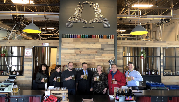 "Mayor Christenson says Thank you to Idle Hands beer for creating Malden's first original beer called the ""Edgeworth"" and also for donating a portion of the proceeds of this beer to fund the restoration of our World War 1 Memorial"
