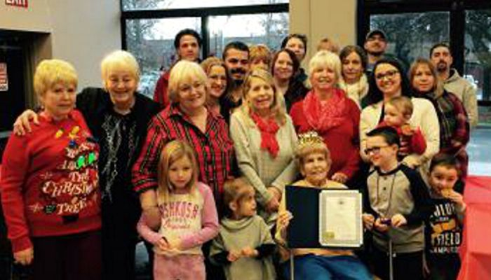 Malden resident Eva Marshall will be 94 years young on December 25th! A celebration organized by her family was recently held in her honor. A citation from the City was presented to Eva in recognition of her milestone birthday. Eva, a former dance instructor has five daughters, Janet, Shirley, Karen, Lenore and Laurie.