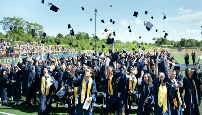 Malden High School Class of 2018 graduated on Sunday, June 3, 2018 in a ceremony at Macdonald Stadium. Principal Chris Mastrangelo officiated at the ceremony where 442 students celebrated their milestone