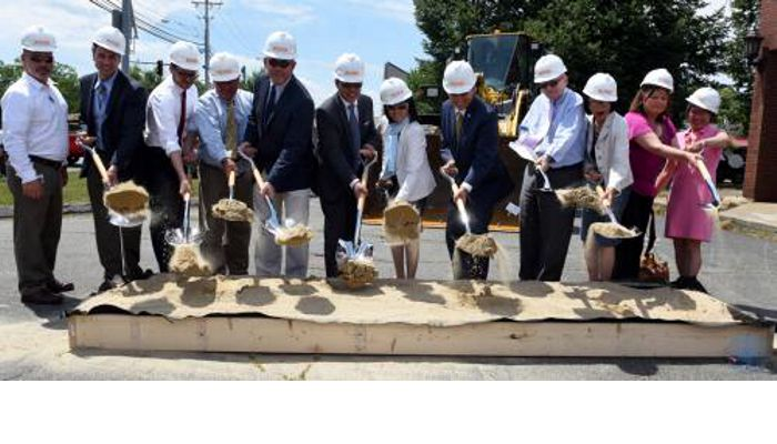 Mayor Gary Christenson, City Council President Peg Crowe and members of the Malden community participated in a groundbreaking for South Cove Community Health Center as they officially begin the remodeling of their new clinic at 277 Commercial Street, the location of the former Malden Evening News.