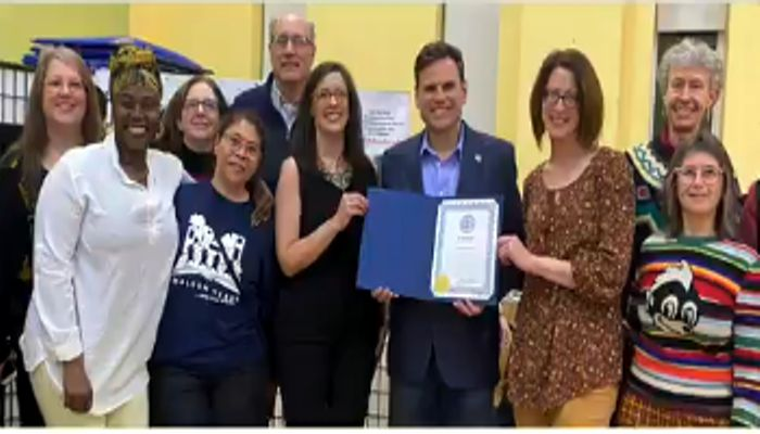 Mayor Christenson helps celebrate One City, One Book, and One Community thanks to Malden Reads celebrating 10 years of making a difference in Malden!