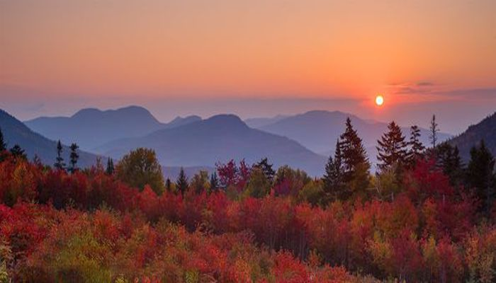 You have to like Fall in New England.  This is sunrise in the White Mountains
