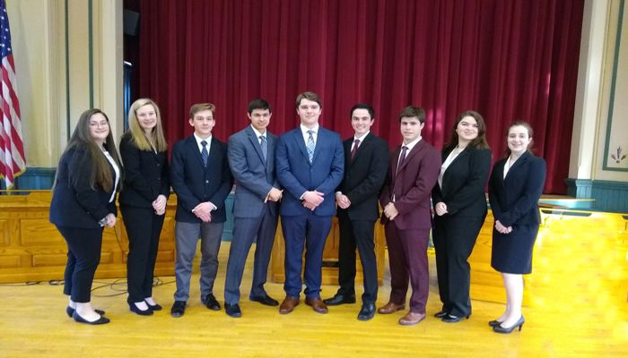 Congratulations to the Malden Catholic  Mock Trial team on their win over Winthrop High School!